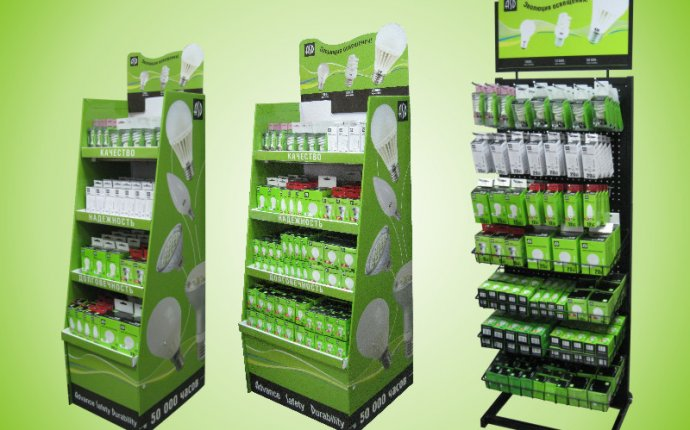 Рекламно-торговые стойки и стенды для ламп ASD